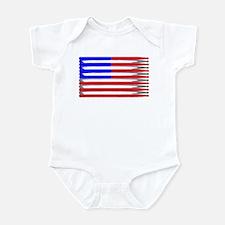 Patriotic USA Drumstick Flag Drum Infant Bodysuit