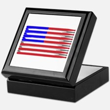 Patriotic USA Drumstick Flag Drum Keepsake Box