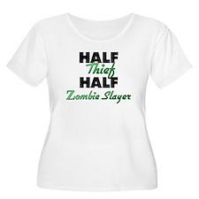 Half Thief Half Zombie Slayer Plus Size T-Shirt