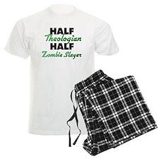 Half Theologian Half Zombie Slayer Pajamas