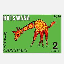 1970 Botswana Giraffe Christmas Postage Stamp Post