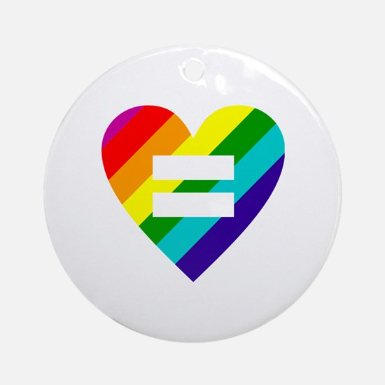 Cute Gay marriage Round Ornament