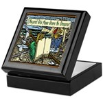 'Beyond Here There Be Dragons' Keepsake Box