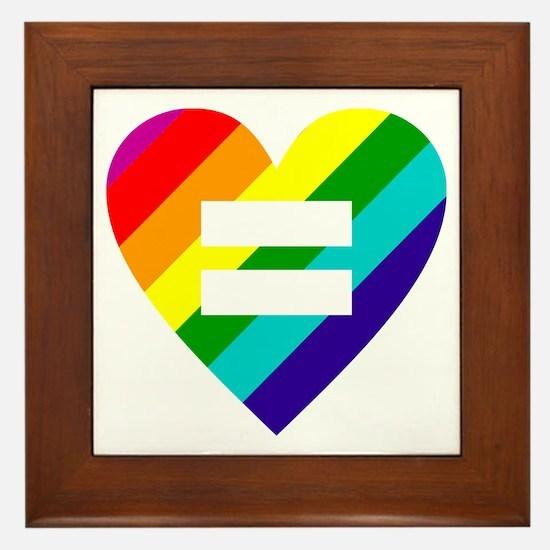 Cute Pride Framed Tile