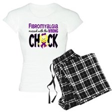 Fibromyalgia Messed With Wrong Chick pajamas