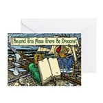 'Beyond Here There Be Dragons'Cards (Pk of 10)