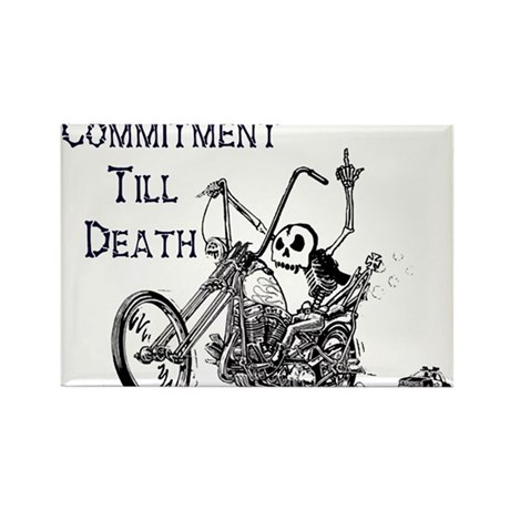 Commitment Biker Rectangle Magnet (100 pack)