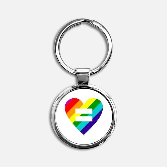 Unique Gay pride Round Keychain