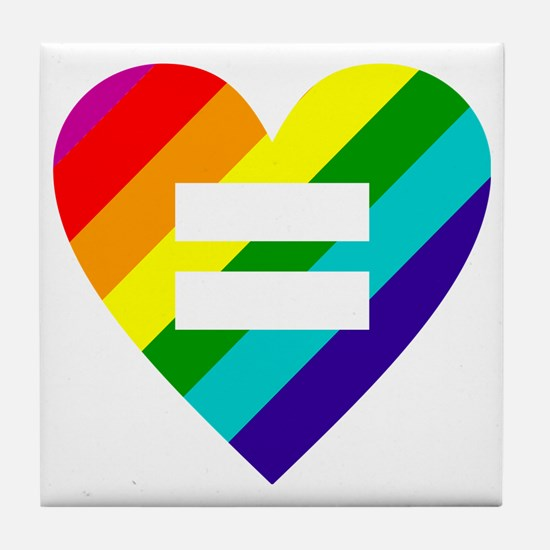 Cute Marriage equality Tile Coaster