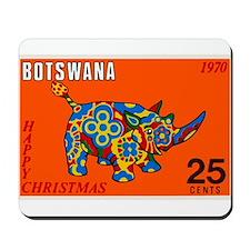 1970 Botswana Rhinoceros Christmas Postage Stamp M