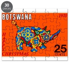 1970 Botswana Rhinoceros Christmas Postage Stamp P