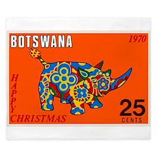1970 Botswana Rhinoceros Christmas Postage Stamp K