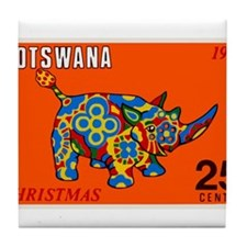 1970 Botswana Rhinoceros Christmas Postage Stamp T