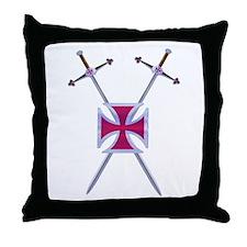 Crossed Swords Throw Pillow