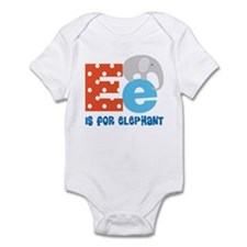 Custom Alphabet Letter E Infant Bodysuit