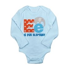 Custom Alphabet Letter E Long Sleeve Infant Bodysu