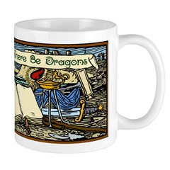 'Beyond Here There Be Dragons' Mug