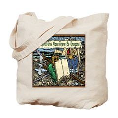 'Beyond Here There Be Dragons' Tote Bag