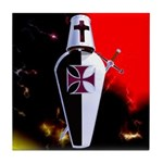 Templar Shield Tile Coaster