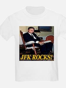 JFK Rocks! Kids T-Shirt