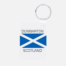 Dunbarton Scotland Aluminum Photo Keychain