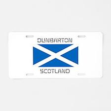 Dunbarton Scotland Aluminum License Plate