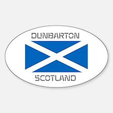 Dunbarton Scotland Sticker (Oval)