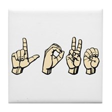 Love (Sign Language) Hands Tile Coaster
