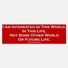 This World Bumper Bumper Bumper Sticker