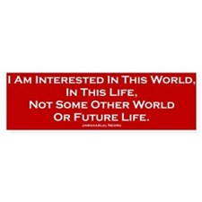 This World Bumper Bumper Sticker