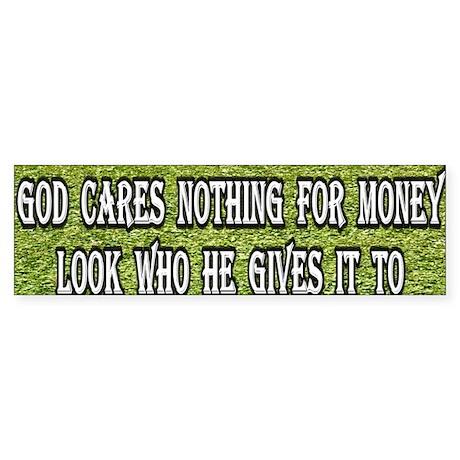 God and Money Bumper Sticker