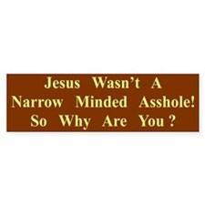 Narrow Minded Bumper Bumper Sticker