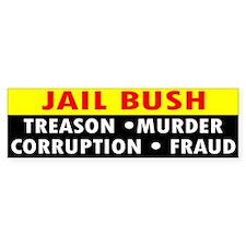 1 JAIL BUSH... Bumper Bumper Sticker