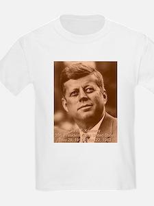 John F. Kennedy Sepia Tone Kids T-Shirt