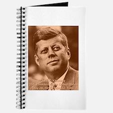 John F. Kennedy Sepia Tone Journal
