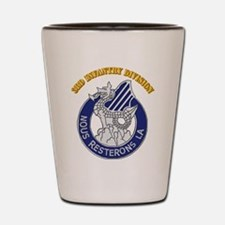 DUI - 3rd Infantry Division with Text Shot Glass