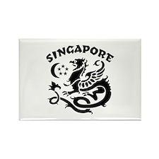 Singapore Dragon Rectangle Magnet