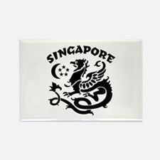 Singapore Dragon Rectangle Magnet