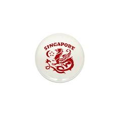 Singapore Dragon Mini Button