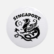 Singapore Dragon Ornament (Round)