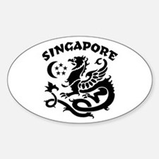 Singapore Dragon Oval Decal