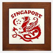 Singapore Dragon Framed Tile