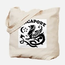 Singapore Dragon Tote Bag
