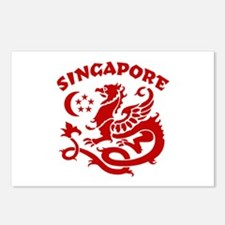 Singapore Dragon Postcards (Package of 8)