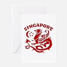 Singapore Dragon Greeting Cards (Pk of 10)