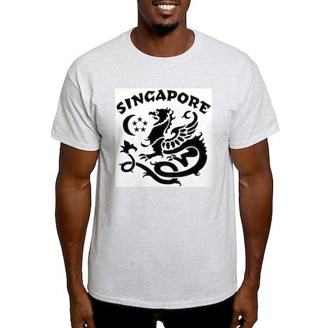 Singapore Dragon Ash Grey T-Shirt