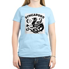 Singapore Dragon Women's Pink T-Shirt