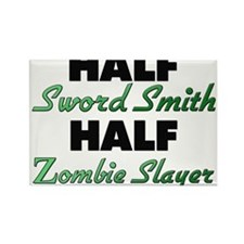 Half Sword Smith Half Zombie Slayer Magnets