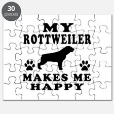 My Rottweiler makes me happy Puzzle