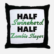 Half Swineherd Half Zombie Slayer Throw Pillow